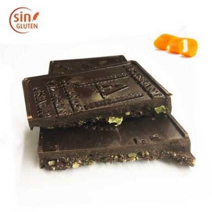 Turrón de chocolate negro y naranja